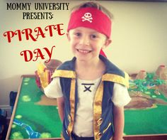 Create your Own Pirate Day (camp day, themed day, summer camp at home) by Mommy University at www.mommyuniversitynj.com #pirates