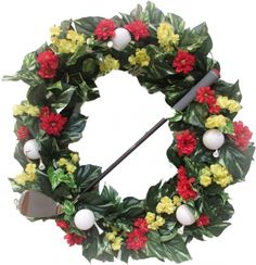 Check out our Golf Balls & Golf Club Golf Theme Handmade Spring Wreath! Find the best golf gear and accessories at Lori's Golf Shoppe. Click through now to see this!