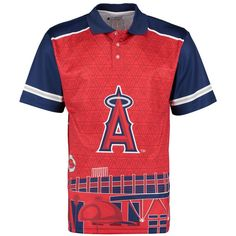 67569287447d9 Los Angeles Angels of Anaheim Thematic Polo - Red Navy Baseball Fashion