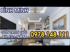 Sơn Phòng Khách Màu Trắng Sứ Cho Căn Hộ Chung Cư - 0978148111