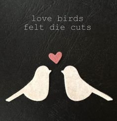 love birds felt die cuts \\ 10 birds 5 hearts \\ 40 colours Shops, Love Birds, Die Cutting, Shower Ideas, Hearts, Felt, Butterfly, Colours, Wedding