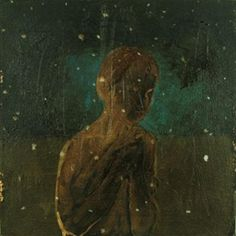 Enrique Martinez Celaya, Boy Cold, 2005, oil and tar on canvas, 16 x 16 inches