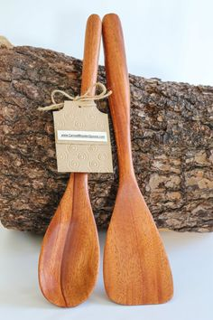 Mahogany Wooden Spoon & Spatula Set - 13.00 Inches Long on Etsy, $40.00