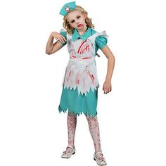 Girls #zombie #nurse halloween costume for fancy dress childrens kids #childs, View more on the LINK: http://www.zeppy.io/product/gb/2/301622391758/
