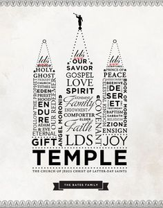 LDS Temple Word Art                                                                                                                                                                                 More