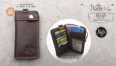 """New: #nvgtrWallet For Men, """"Out Of Pocket - Brown"""" Leather. IDR 200K. Order SMS/WhatsApp: 08562101653."""
