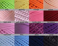 50m Zpaghetti Yarn Many Colors / Trapillo Yarn/ T-shirt Yarn / Home Decor Tshirt Yarn / Cotton cord / Crochet yarn / Fabric Knitting Yarn