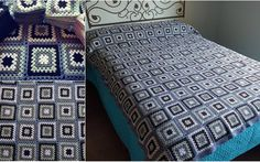 Grannys Square Blanket