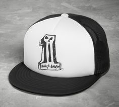 "This hat is legit with the ""puffy"" foam front panel, mesh back, and snap back closure. 