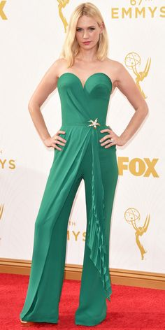 January Jones - Emmys 2015 Red Carpet Arrivals - from InStyle.com