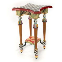How amazing is this MacKenzie-Childs Tango Table? You can buy it here. Whimsical Painted Furniture, Painted Chairs, Hand Painted Furniture, Funky Furniture, Paint Furniture, Repurposed Furniture, Furniture Projects, Kids Furniture, Rustic Furniture