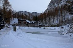 Laux il lago ghiacciato