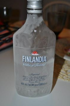 Also finns have their own vodka but this must be taken frozen and a small zip is enough.