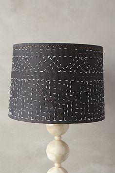 Stitched Kantha Lamp Shade - anthropologie.com #anthrofave