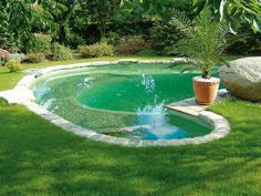 Fun pool design, I have seen a couple of these with wading depth edges, and then a deeper middle or end.