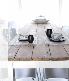 rustic table - love the color of the wood
