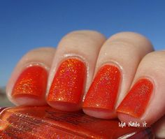 Aconcagua - A Tangerine Orange jelly base with holographic pigment