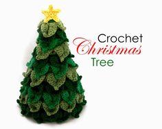 Little Abbee: O' Crochet Christmas Tree! Crochet TUTORIAL - uses the Crocodile Stitch