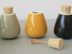 little cruets with stopper-spoons, from the neutral store