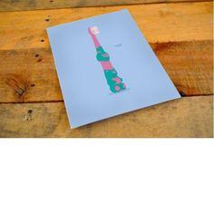The 'Dadent' by Louise B.Printed Illustration on Postcard#ChildrenBrokenWords#BrokenWords #mypushup https://www.mypushup.com
