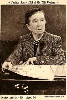 Jeanne Lanvin Born 1 January 1867 - Died 6 July 1946