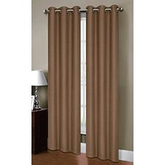 Superbe Bella Luna Henley Thermal Insulating Faux Linen 76 X 84 In. Grommet Curtain  Panel Pair