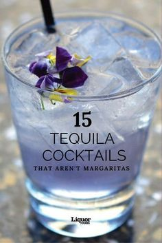 15 Amazing Tequila Cocktails That Aren't Margaritas: Your old favorite tequila drink has some delicious competition. 15 Amazing Tequila Cocktails That Aren't Margaritas: Your old favorite tequila drink has some delicious competition. Mezcal Cocktails, Cocktails To Try, Fancy Drinks, Bar Drinks, Summer Cocktails, Cocktail Drinks, Alcoholic Drinks, Cocktail Tequila, Classic Cocktails