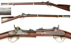 """Remington 1863 Zouave Rifle - One of around 12,501 made during the Civil War. This is a 58 Caliber musket, with a 7 groove 33"""" rifled barrel. The lock is stamped """"1863"""" and """"REMINGTON'S/ILLION, N.Y."""" The barrel is marked """"STEEL"""" 1863 and also has a V/P (eaglehead) proof."""