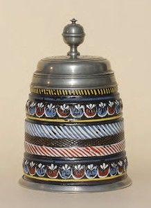 Annaberg Baker Guild Stoneware Stein ca. 1700 H. 21 cm