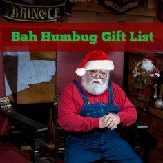 Bah Humbug Gift List