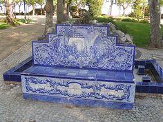 banco em azulejo, portas do sol, Santarem-Portugal