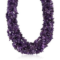 """I bought this for my Aunt's Birthday it was spectacular!!! I just loved how it looked when she put it on and she absolutely loved it. I have purchased other items and I have never been disappointed."" >Amethyst Torsade Necklace #RossSimons"
