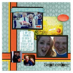 BoBunny: Luscious Layouts for A Year with Calendar Girl! Spectacular September! #BoBunny