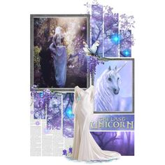 The Last Unicorn by asktheravens on Polyvore featuring art