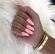 By Trend Trendy Nails Makeup Beauty Party Style Summer Acrylic Nails, Best Acrylic Nails, Pretty Nail Colors, Pretty Nails, Hot Nails, Pink Nails, Perfect Nails, Gorgeous Nails, Coffin Nails Ombre