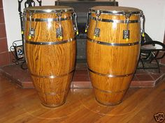 New skins on these beautiful Skin on Skin congas