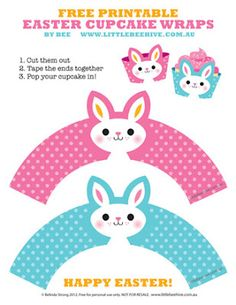 free printable cupcake wraps wrappers easter free frugal cheap gift idea candy free