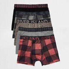 Red check trunks pack - trunks - underwear - men