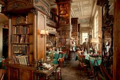 Dinner at the library... Cafe Pushkin