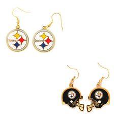 Pittsburgh Steelers Logo and Helmet Earrings