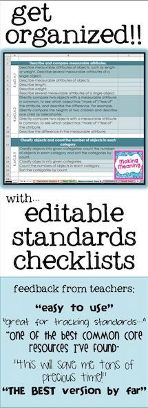editable common core standards checklists- grades K-6- ELA, math, and both- standards listed as is and broken down by concept- completely editable, add your school's or district's standards- record grades, track student progress, track standards covered- 3rd grade math version is FREE!  (others are $)