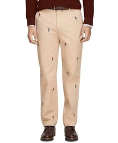 Men's Clark Fit Football Embroidered Chinos