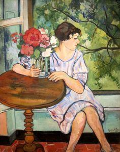 Suzanne septembrie 1865 – 7 aprilie pictoriță franceză(I) Renoir, Henri De Toulouse Lautrec, Women Artist, Maurice Utrillo, Oil On Canvas, Canvas Prints, Edouard Vuillard, French Artists, Fine Art