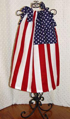 Patriotic Pillowcase Dress #patriotic #dress #pillowcase