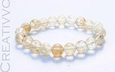 Quartz Bracelet -8mm, Quartz Gemstone Bracelet, Gemstone Bracelet, Womens Bracelet