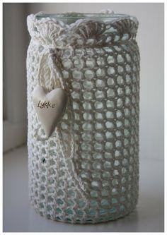 Crochet Decoration, Crochet Home Decor, Mason Jar Crafts, Mason Jar Diy, Mode Crochet, Knit Crochet, Crochet Jar Covers, Tin Can Crafts, Crochet Accessories