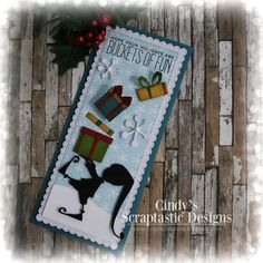 Die Cut Christmas Cards, Christmas Paper Crafts, Homemade Christmas Cards, Xmas Cards, Tim Holtz Dies, Sizzix Dies, Halloween Cards, Cool Cards, Crafty