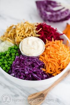 Russian Beet Salad, Shredded Raw Beet Salad, Red Cabbage Salad