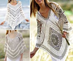 Different variety of poncho crochet patterns Beautiful Crochet Poncho Patterns That You Will Love Poncho Au Crochet, Crochet Diy, Crochet Poncho Patterns, Crochet Girls, Crochet Cocoon, Crochet Vests, Crochet Cape, Crochet Toddler, Crochet Edgings