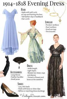 1914 Fashion, Fashion History, Retro Fashion, Vintage Fashion, Fashion Fashion, Edwardian Gowns, Edwardian Fashion, Day Dresses, Evening Dresses